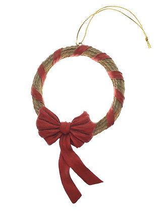 Lariat Ribbon Wrapped Ornament