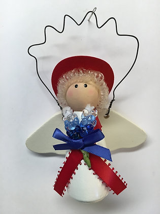 Bluebonnet Angel Ornament