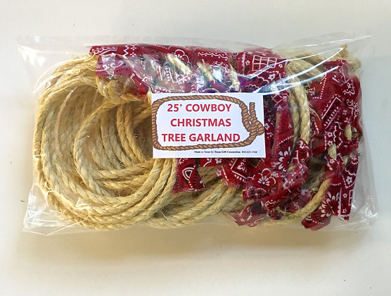 Cowboy Bandana Christmas Tree Garland 25 FT