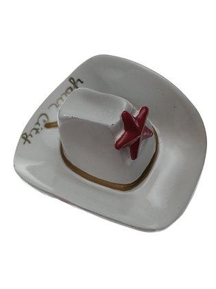 White Cowboy Hat Magnet