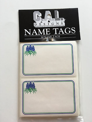 Bluebonnet Name Tags