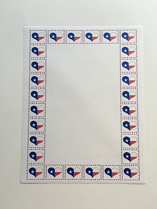 Quilted Heart Flag Stationary