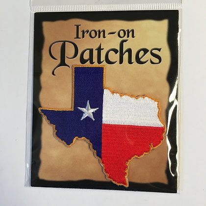 Patch - Texas Shaped Flag