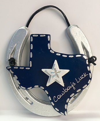 Texas Cowboy's Luck Horseshoe Decor