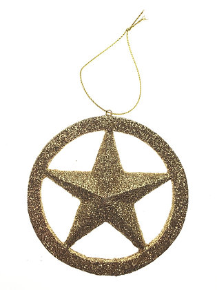 Glitter Gold Star