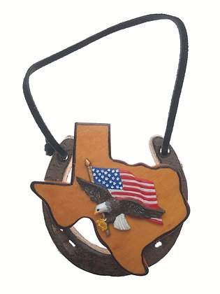 Horseshoe Texas and American Flag