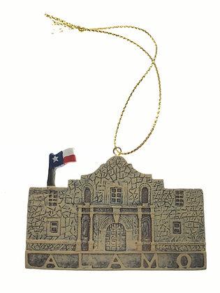 Alamo Ornament w/ Flag