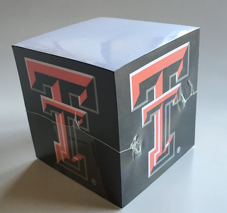 Texas Tech Note Cube