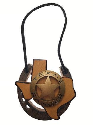 Horseshoe Ornament w/ Ranger Badge