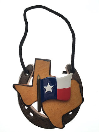 Horseshoe w/ Texas Flag
