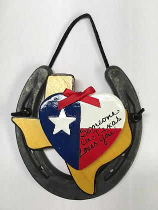 Horseshoe Heart - Someone in Texas Loves You
