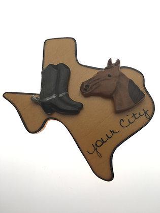 Boots & Horses Texas Magnet