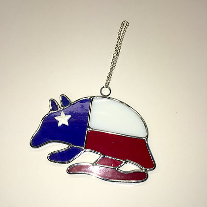 Stained glass Armadillo Ornament