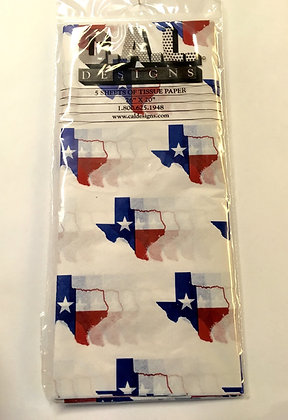 Texas Flag State Tissue Paper