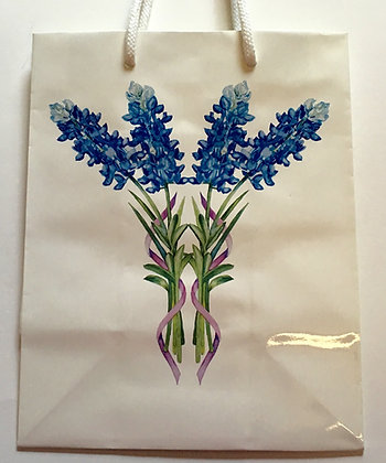 Bluebonnet Watercolor Gift Bag