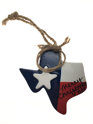 Texas Flag Ornament w/ Lasso