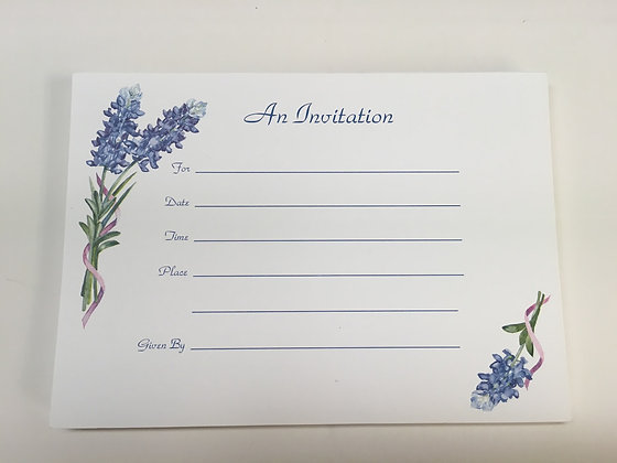 Bluebonnet Invitation FI