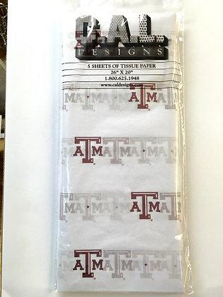 A & M University Tissue Paper 240 Sheet 1/2 Ream