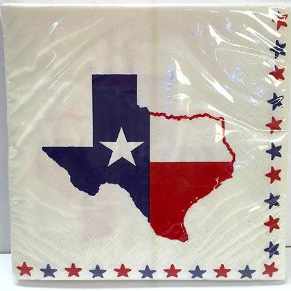 Texas Flag Beverage Napkins