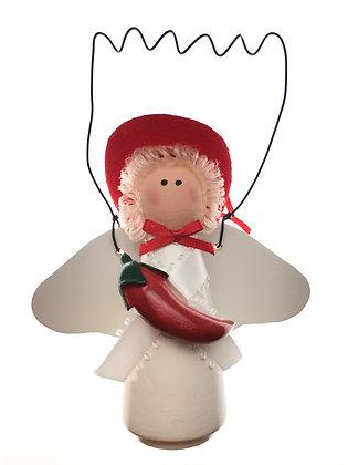 Chili Pepper Angel Ornament