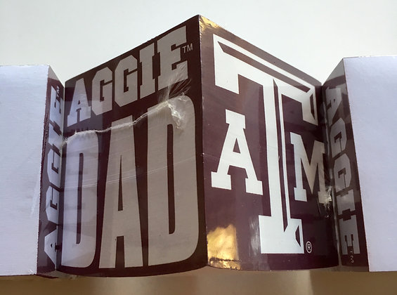 Texas A & M Aggie DAD Note Cube