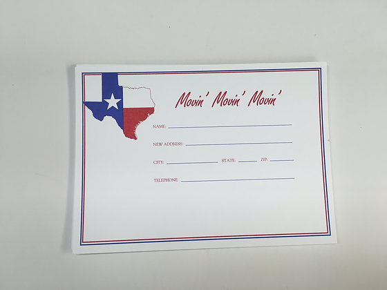 Texas Flag Address Change Card