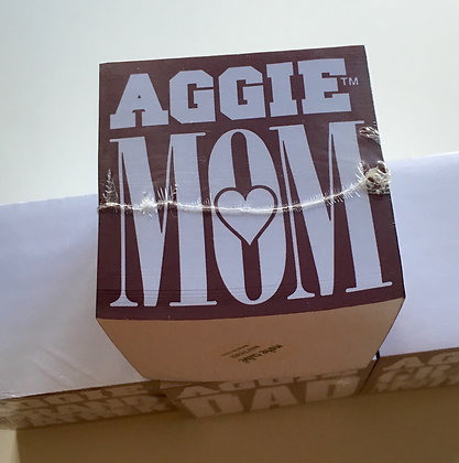 Texas A & M Aggie MOM Note Cube