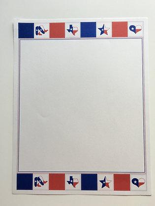 Texas Flag Quilt Stationary