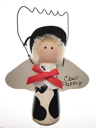 Cow Patty Angel Ornament