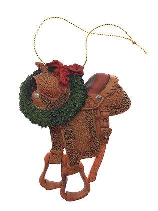 Saddle Wreath Ornament
