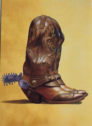 Cowboy Boot Blank Card