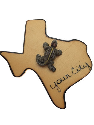 Horned Toad on Texas Magnet
