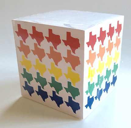 Rainbow Texas Note Cube