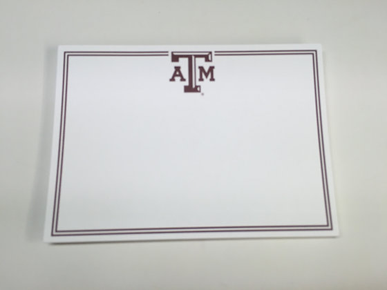Texas A & M Blank Invitation