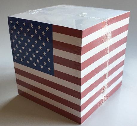 American Flag Notecube