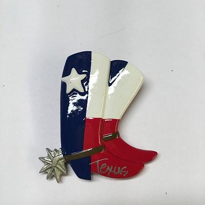 Texas Flag Boot Magnet