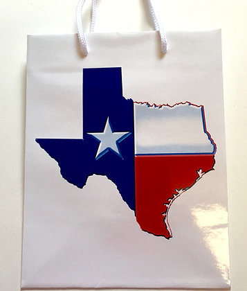 Texas State Flag Gift Bag