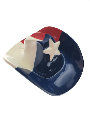 Texas Flag Cowboy Hat Magnet