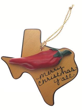 Chili Pepper Christmas Ornament