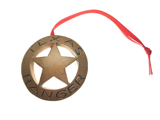 Texas Ranger Badge Ornament