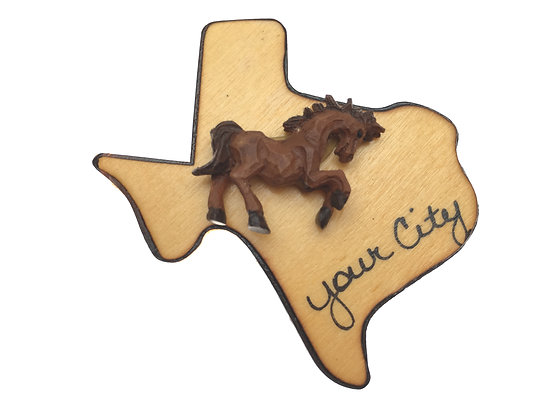 Horse on Texas Magnet