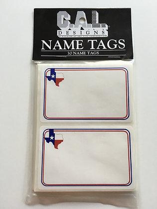 Texas Flag Name Tags