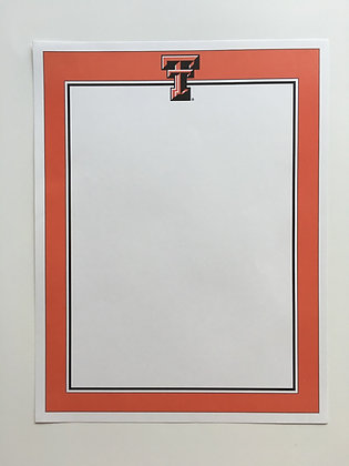 Texas Tech Solid Stationary