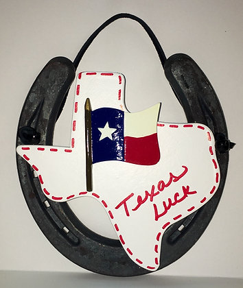 Texas Flag Horseshoe Decor