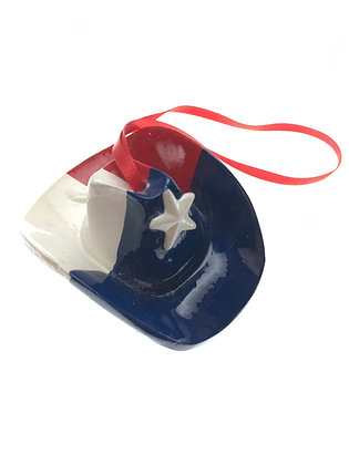 Texas Flag Cowboy Hat Ornament