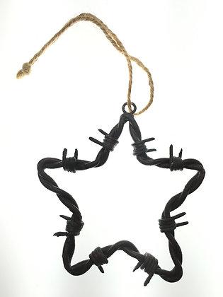 Star Barbed Wire Ornament