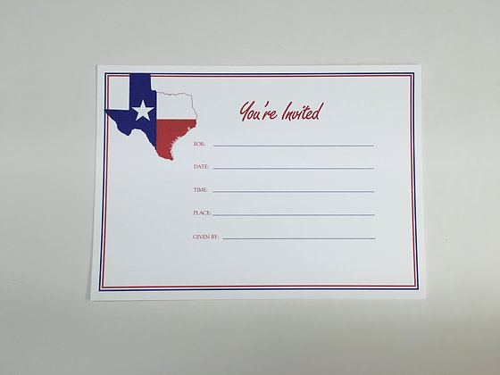 Texas Flag You're Invited Invitation FI