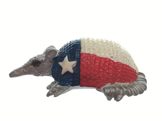 Armadillo Texas Flag Magnet