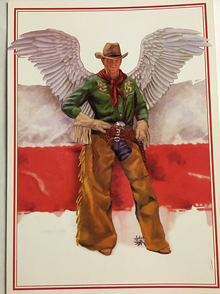 Cowboy Angel Blank Card