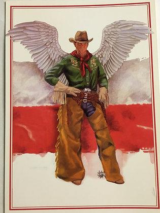Cowboy Angel Blank Card